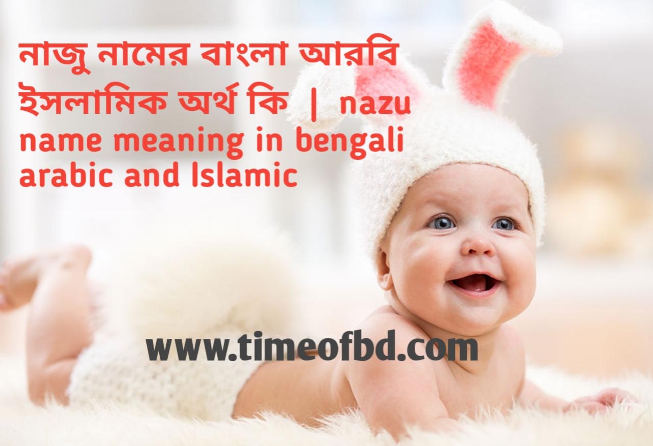 নাজু নামের অর্থ কী, নাজু নামের বাংলা অর্থ কি, নাজু নামের ইসলামিক অর্থ কি,nazu name meaning in bengali