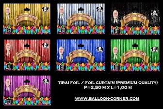 Tirai Foil / Foil Curtain Panjang 2,5 Meter (PREMIUM QUALITY)