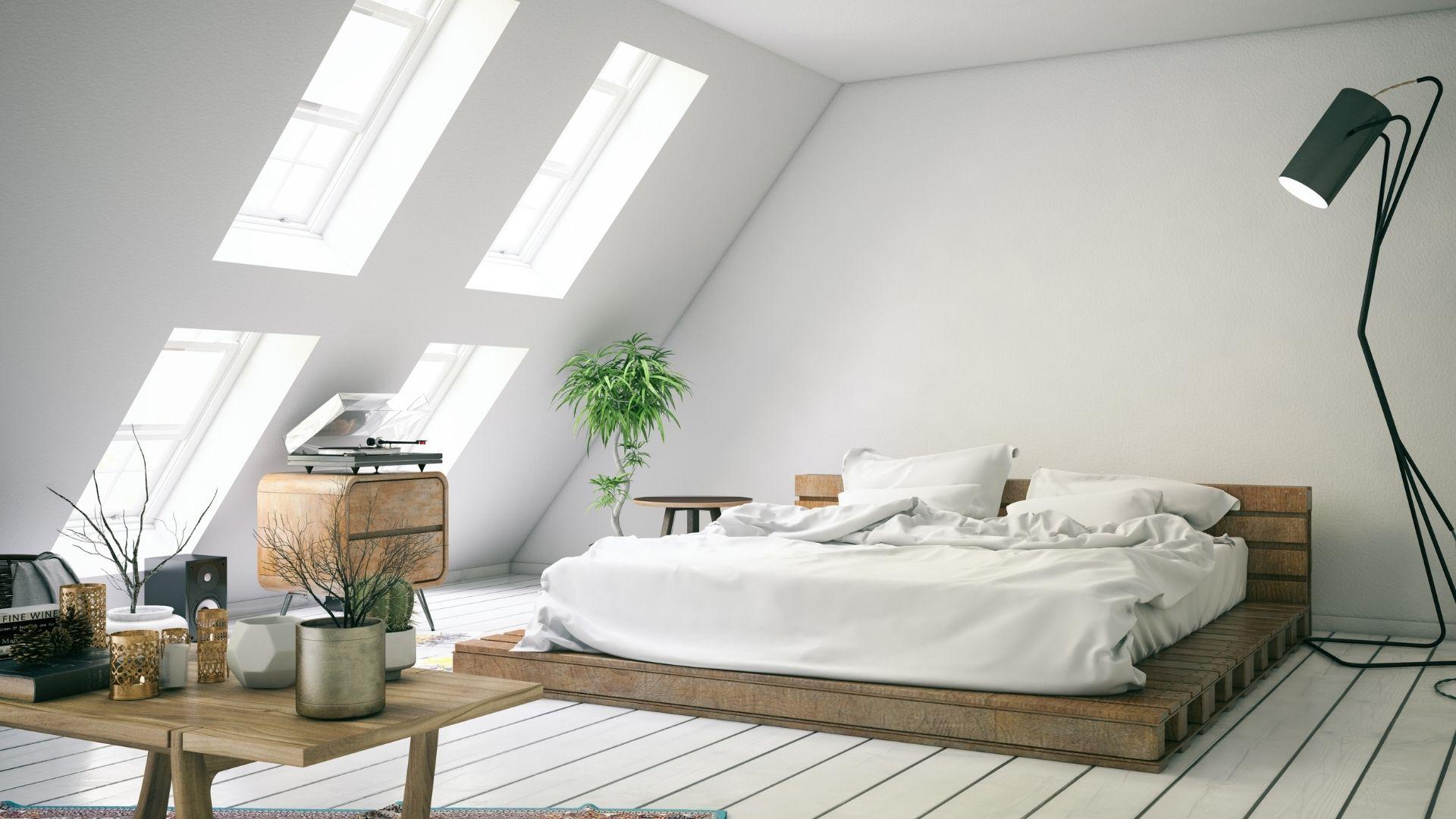 duży pokój na strychu