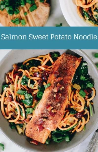 Salmon Sweet Potato Noodle