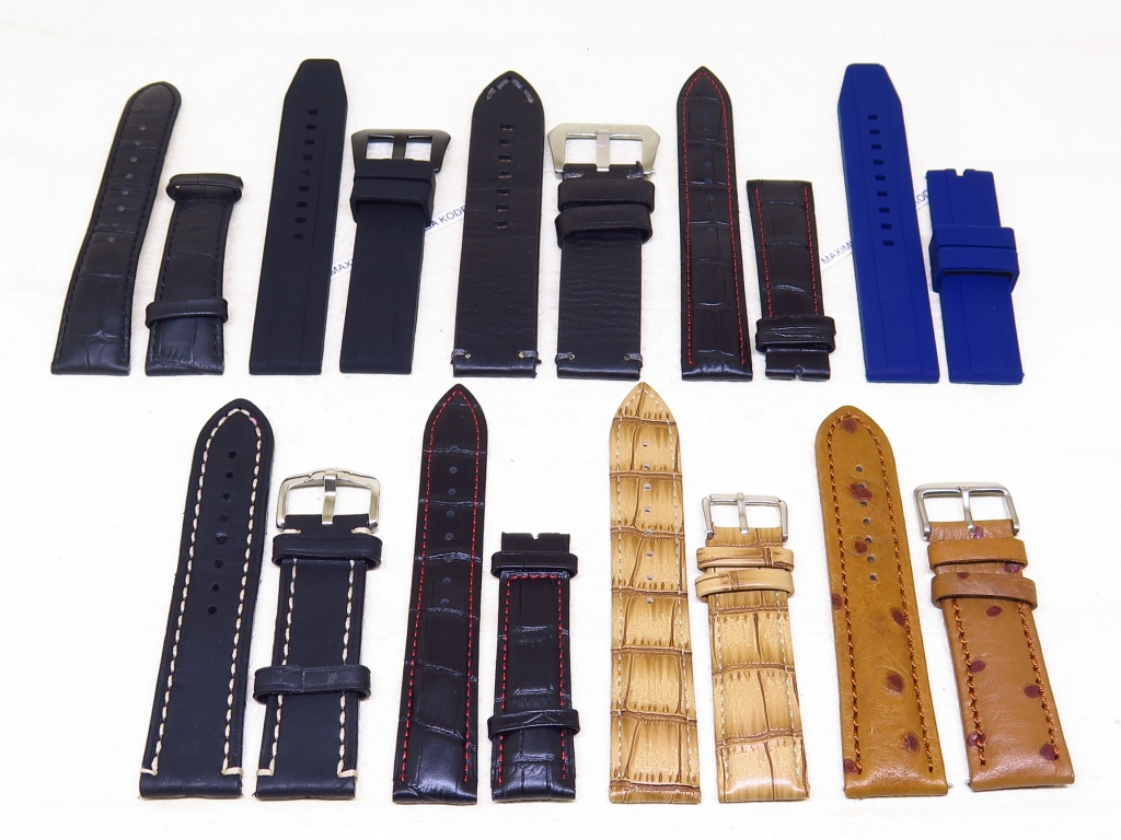 10 - STRAPS GENUINE LEATHER - RUBBER STRAP 20MM 22MM 24MM - CODE SB1/9 - SB9/9