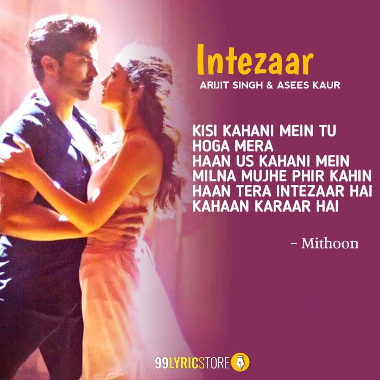 Intezaar Arijit Singh Song Images