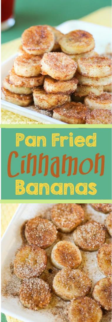 Seared CINNAMON BANANAS #babanas#food