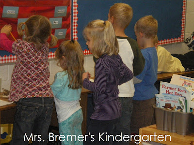 Free Kindergarten Winter Write the Room activities-perfect as a literacy center!