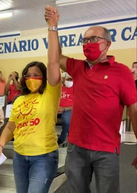 Viviane Braga e Elmar Anselmo fecham chapa PT/PSOL