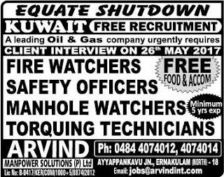 Oil & Gas Equate shutdown jobs in Kuwait