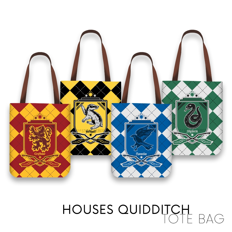 Totebag Houses Quidditch