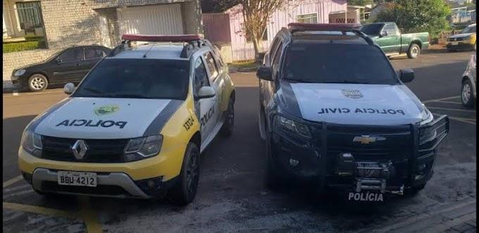 Nova Laranjeiras: Polícia Civil (GDE) e Polícia Militar cumpre mandados e prendem dois por porte ilegal de arma