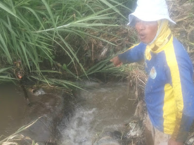 Bendungan perairan sawah Tanjung Payang Pagaralam amblas