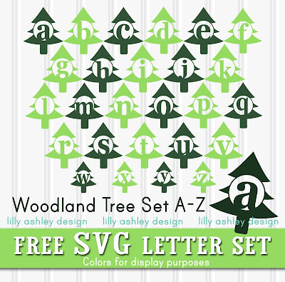 free woodland svg set