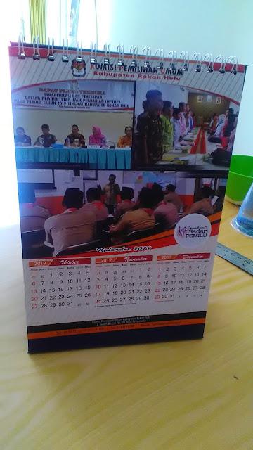 Kalender Meja KPU