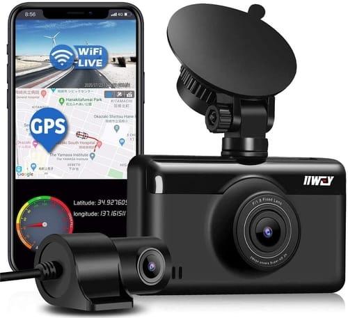 Review iiwey S1 2K GPS WiFi Dual Dash Cam