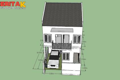 Rumah 6×10 dengan 3 kamar di Lantai 2