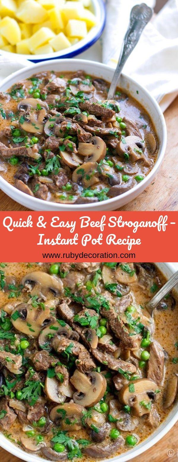 Quick & Easy Beef Stroganoff – Instant Pot Recipe