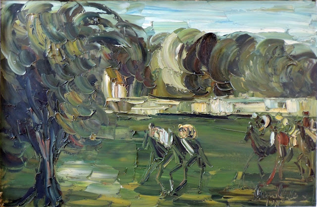 Irene lafitte pintura cuadro caballos