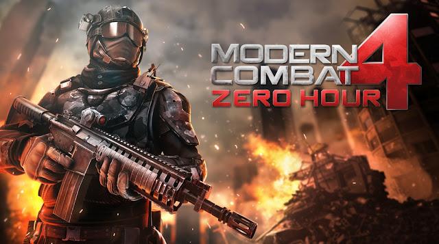 تحميل لعبة modern combat 4 للاند رويد كاملة