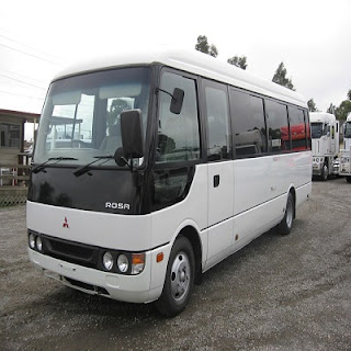 Mitsubishi Mini Bus (Extended 33-Seater) Coaster For Rent in Bohol (Bohol Rent A Coaster)