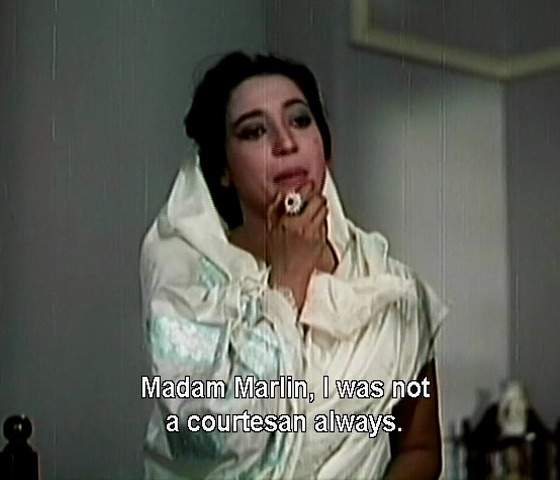 Madam Marlin, I was not a courtesan always