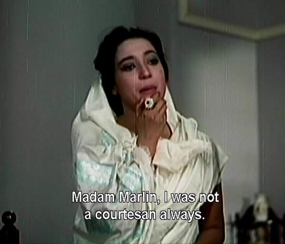 Madam Marlin, I was not a courtesan always