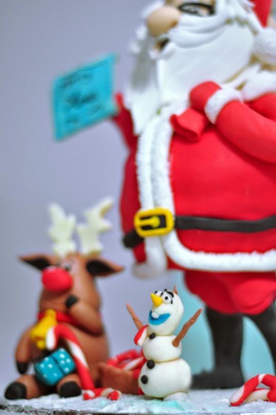 3D Santa Cake