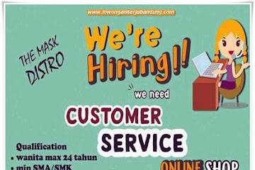 Lowongan Kerja Customer Service Online Shop The Mask Distro