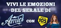 Logo Radio 105: Vinci gratis le emozioni del Serale di AMICI !