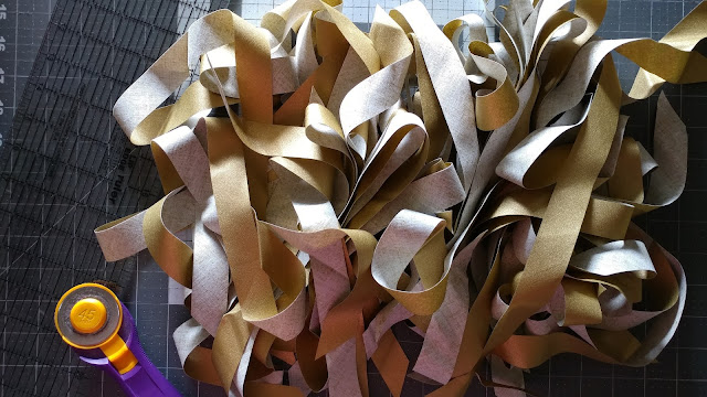 metallic gold bias tape