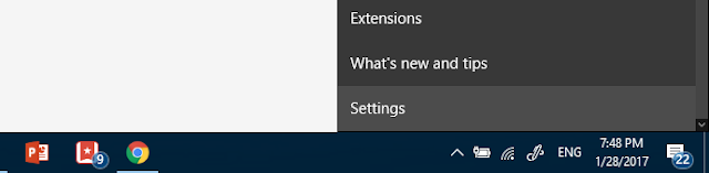 Settings Microsoft Edge
