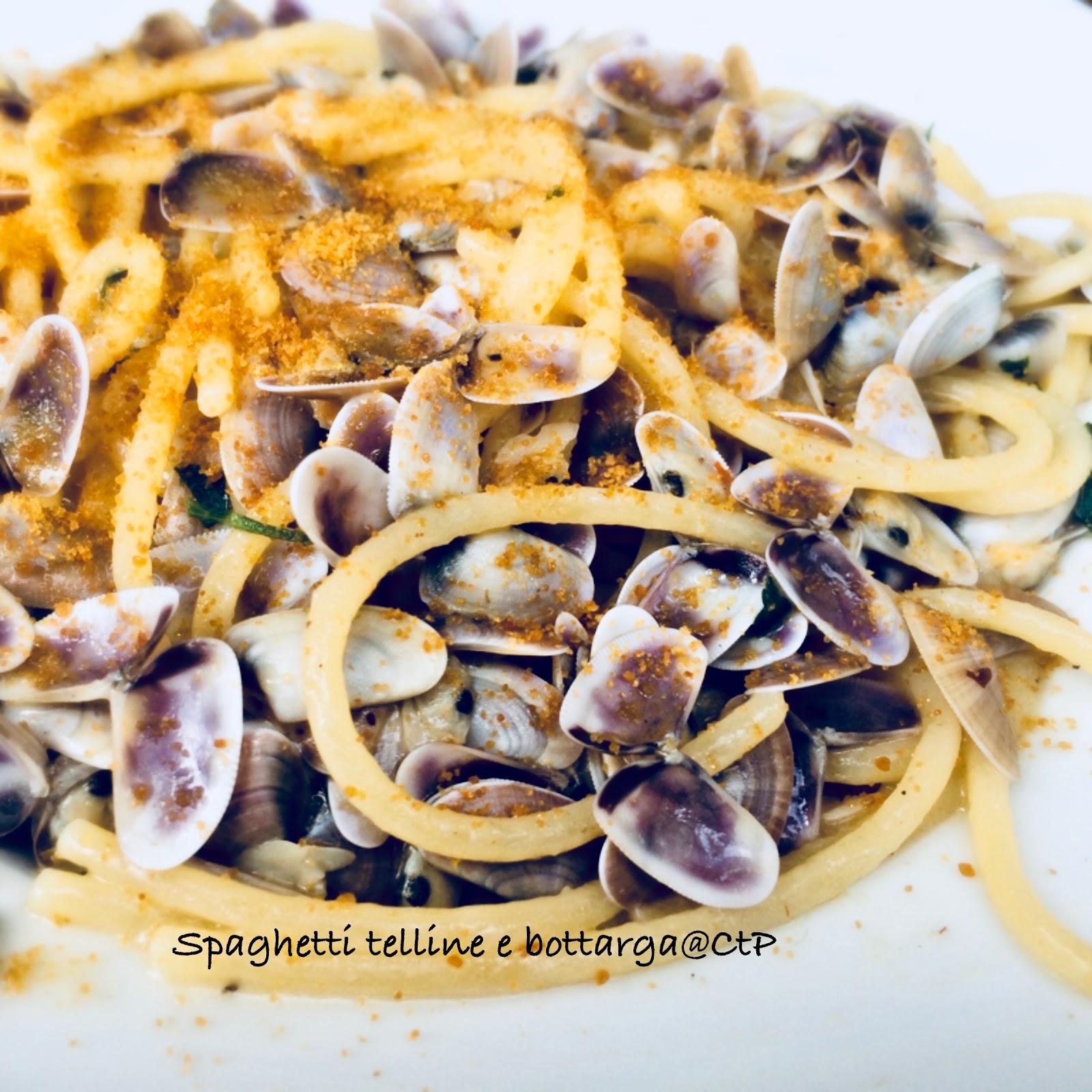 Spaghetti telline e bottarga alessandra ruggeri
