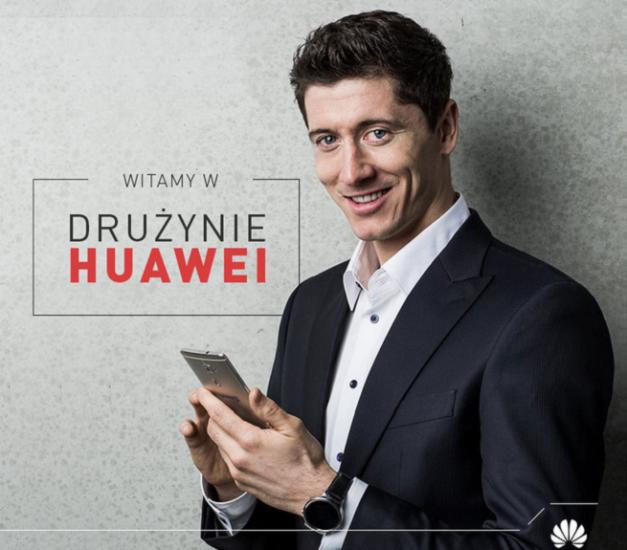 Huawei cierra su trío de ases con Lewandowski