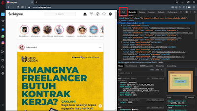Cara Upload Foto di Instagram lewat PC - Opera