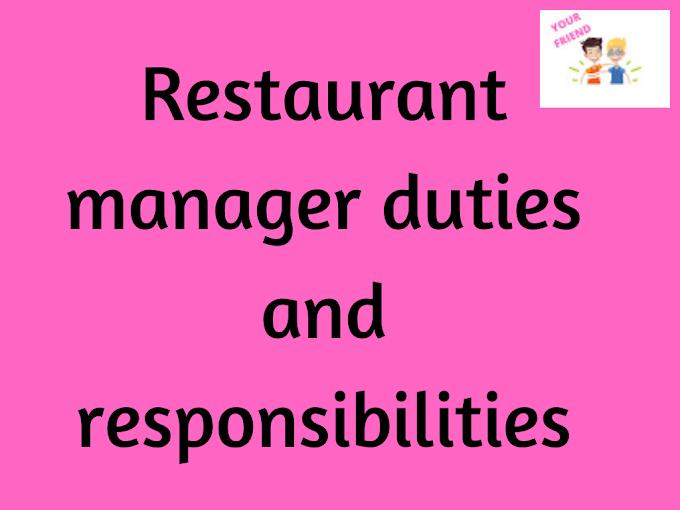 Restaurant Manager Responsibilities