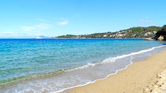 Vromolimnos beach Skiathos island