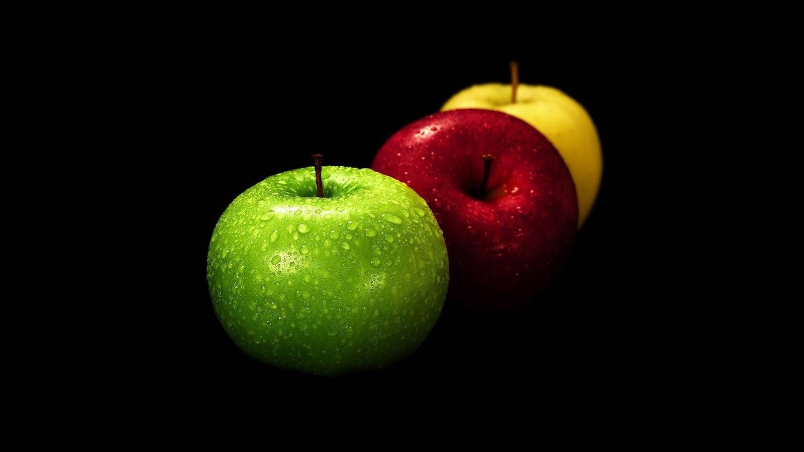 Fondo Fondos De Pantalla Verde Amarillo Y Rojo: Fondo De Pantalla Manzana Verde, Roja Y Amarilla