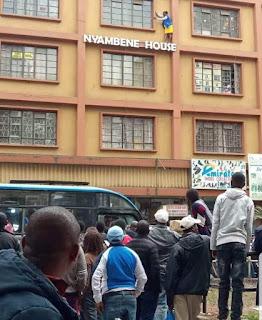 Attempting Murder along Tom Mboya Street, Nairobi. PHOTO | Courtsey