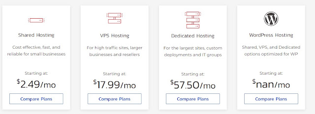 Other web hosting plan, Shared, VPS, Dedicated and more for inmotion web hosting