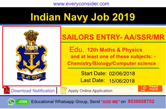 Join Indian Navy job