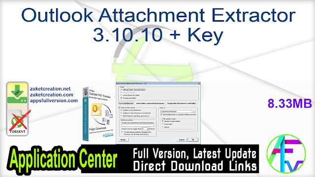 Outlook Attachment Extractor 3.10.10 + Key