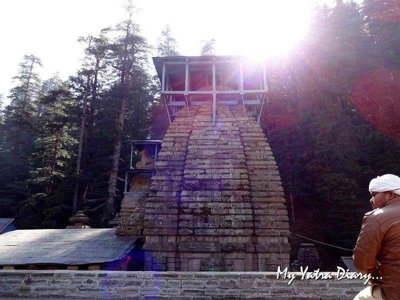 Sunrays at Stone Temples Jageshwar Uttarakhand