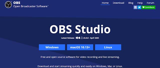 Unduh OBS Studio di website obsproject.com