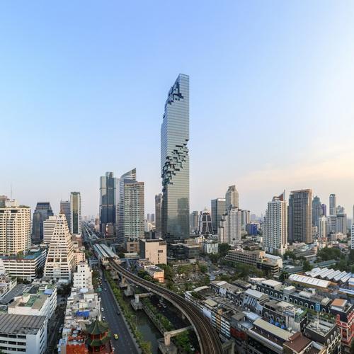 Tinuku Menara MahaNakhon Desain Ole Scheeren Resmi Gedung Tertinggi Thailand