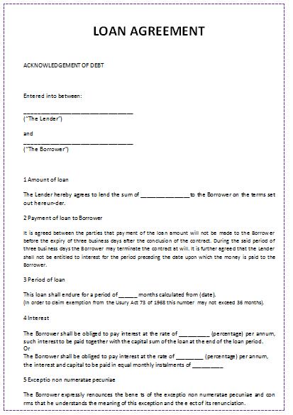 sample business plan for money lending