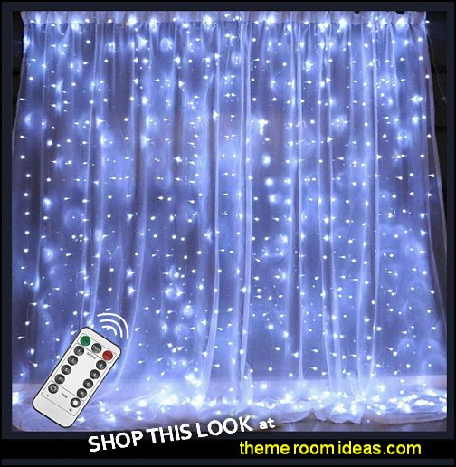 Twinkle Sta LED Window Curtain String Light star sting lights star lights star lighting celestial bedroom decor   galaxy-theme-room-bedroom-decor-celestial-moon-stars-decorating-ideas-bed-themed-decorations-parties-space