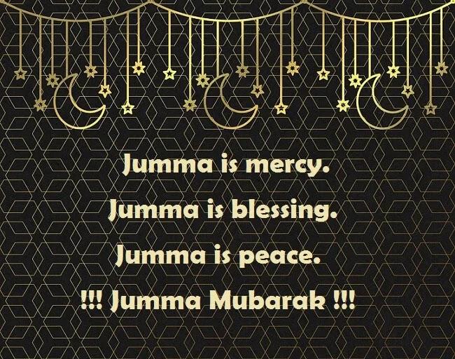 Mercy blessing peace jumma mubarak image