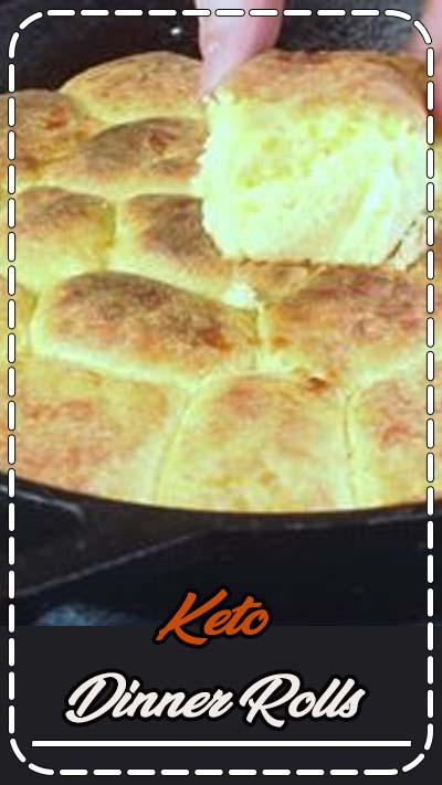 These easy Keto Dinner Rolls are fluffy, tasty, and make a great side dish or slider bun for sandwiches, burgers, and more! Based on the original fat head dough this low carb bread just can't be beat. Made in a cast iron skillet too! #glutenfree #keto #ketorecipe #lowcarbrecipe #lchf #lowcarbdiet #ketodiet