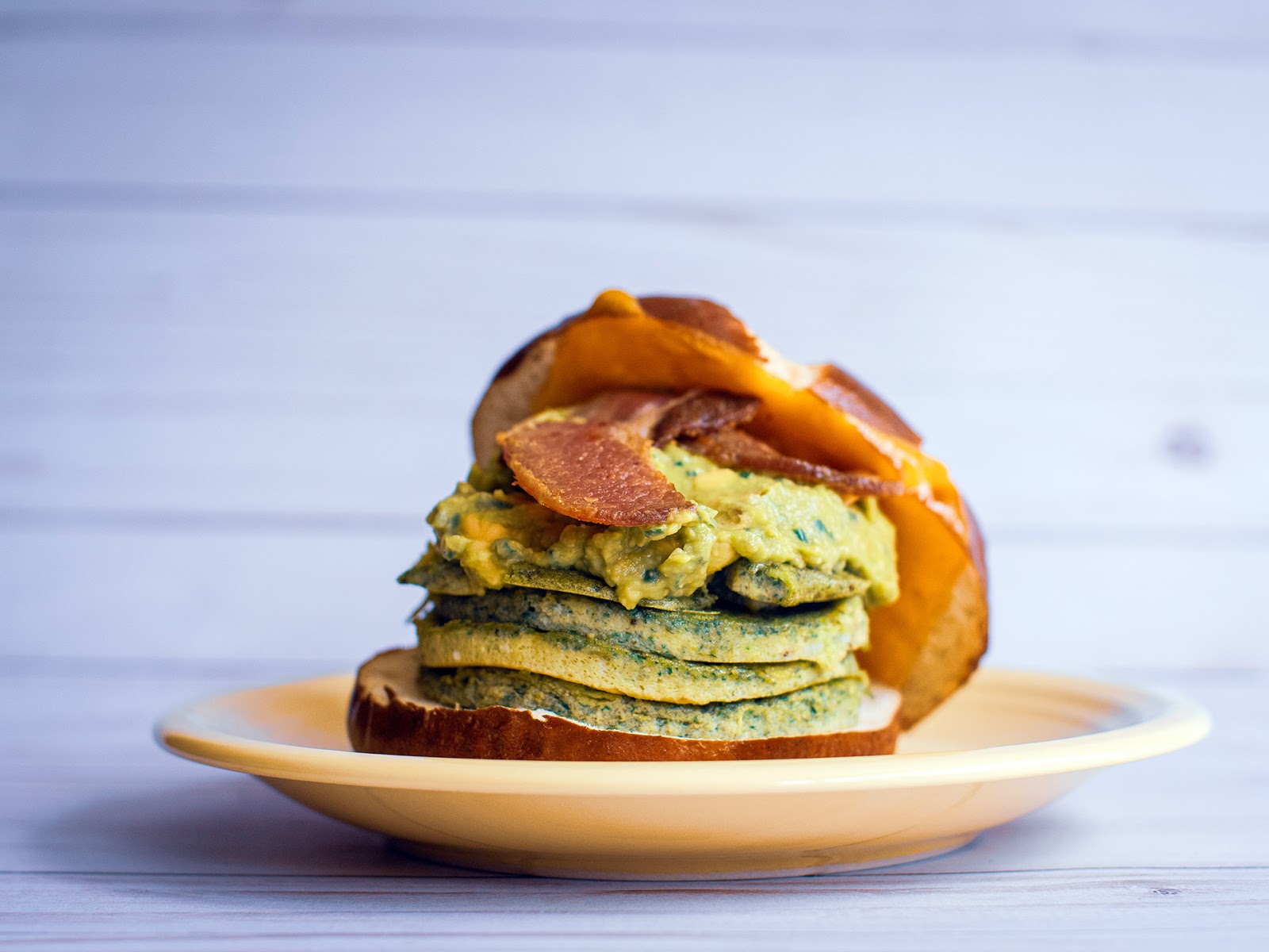 Green Monster Bacon Egg and Cheese Breakfast Sandwich | Local Food Rocks