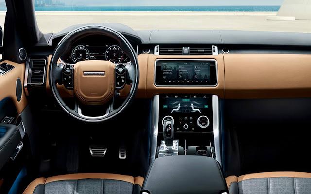 Range Rover Sport thiết kế vô lăng và táp lô theo phong cách tối giản