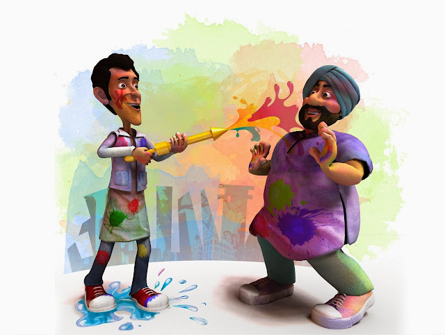 happy holi comedy images