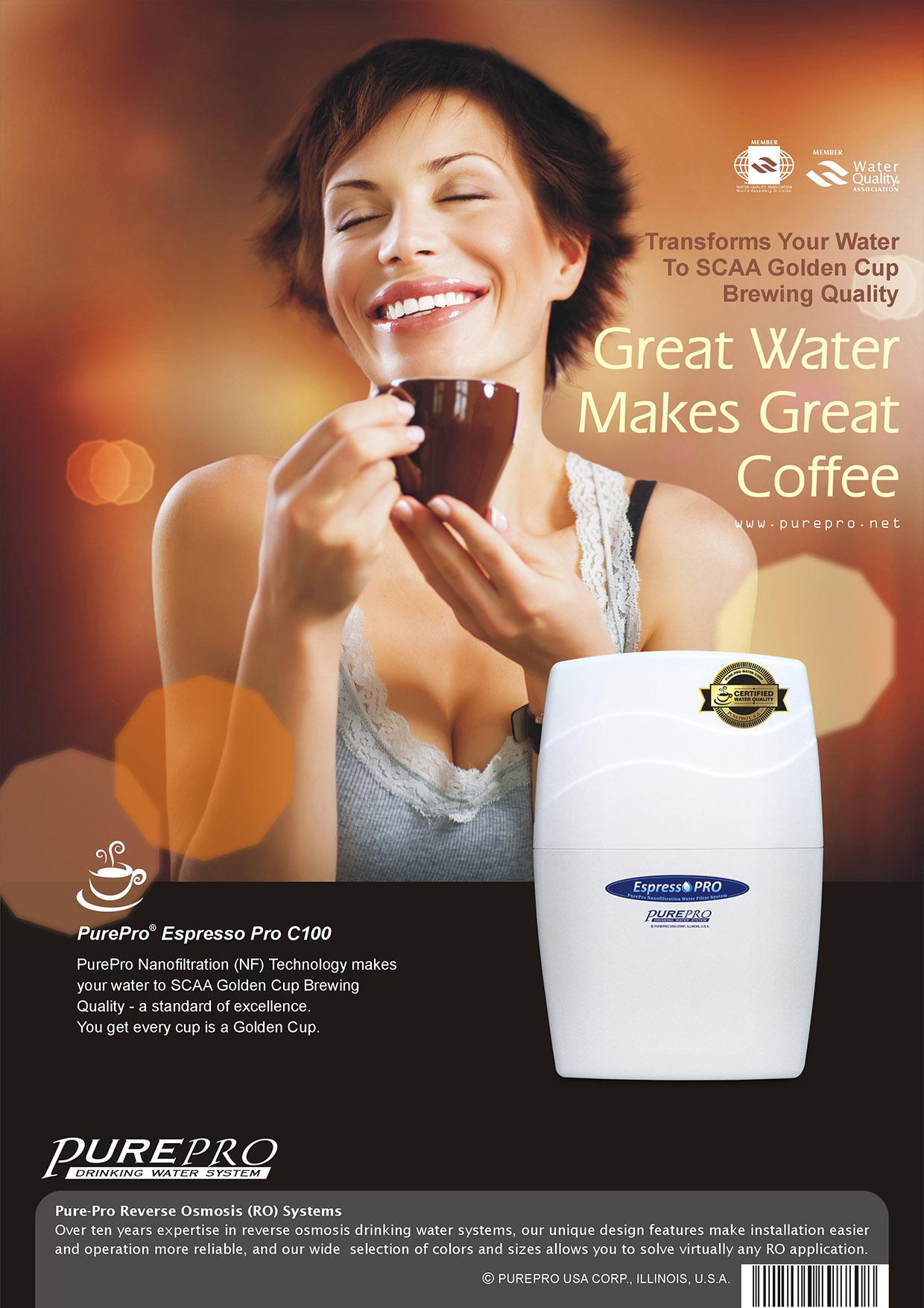 美國 PurePro® C100 RO濾水器 - 全新配備具礦物保護技術的新一代逆滲透膜