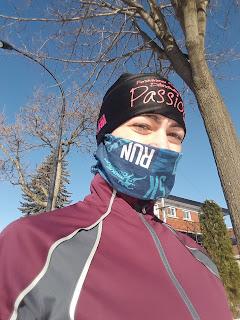 Coureuse l'hiver, multicouches